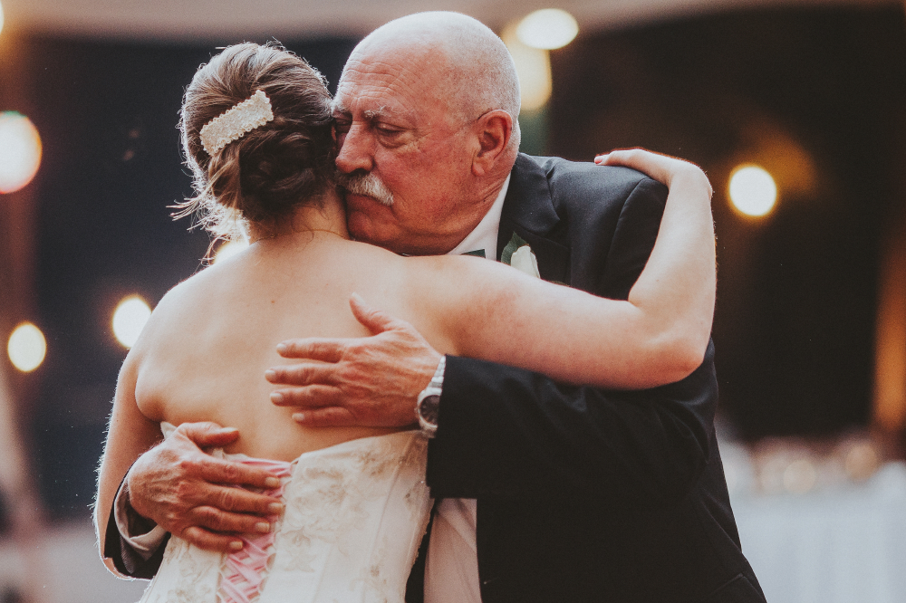 san diego wedding   photographer | bride hugging old man with mustache