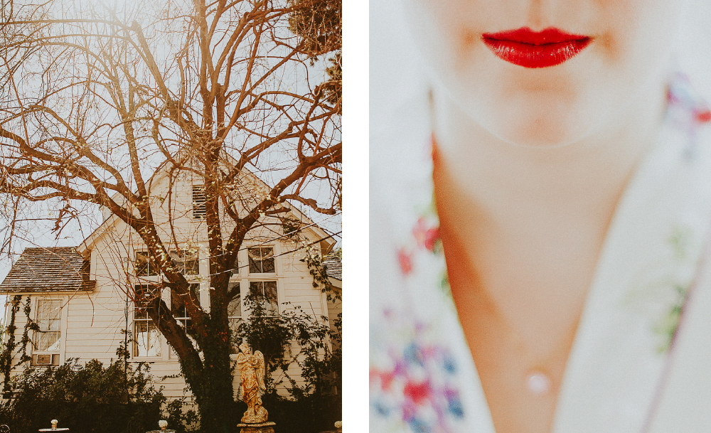 san diego wedding   photographer | collage of front of house and bride's lips