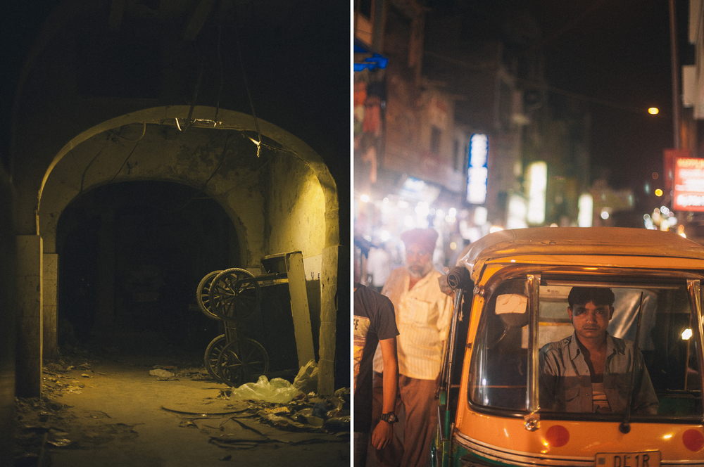 san diego wedding   photographer | collage of dark alley with wagon and man in tuktuk