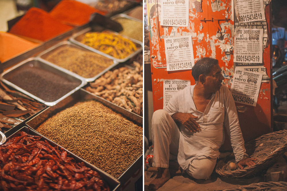 san diego wedding   photographer | collage of spices and man sitting by a wall