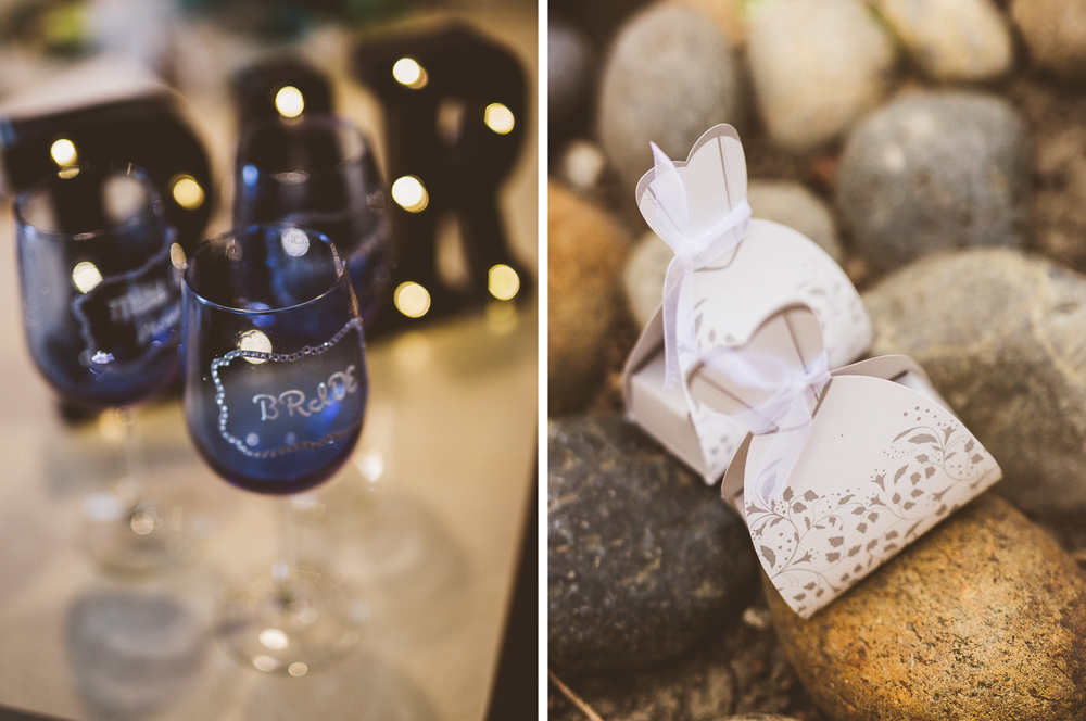 san diego wedding   photographer | collage of engraved wine glasses