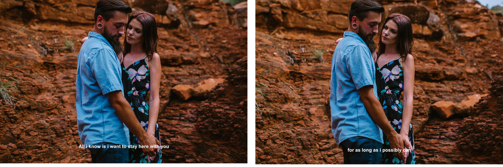 san diego wedding   photographer | collage of bearded man in blue with woman in floral dress