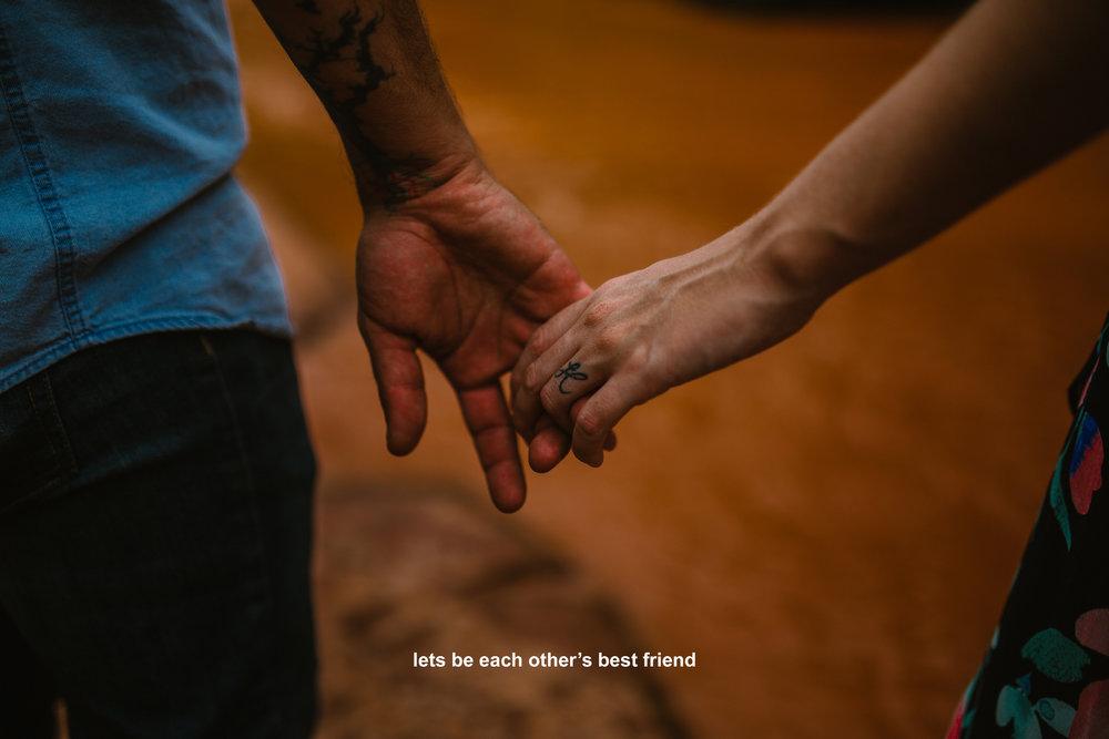 san diego wedding photographer | man with tattoo holding woman's hand