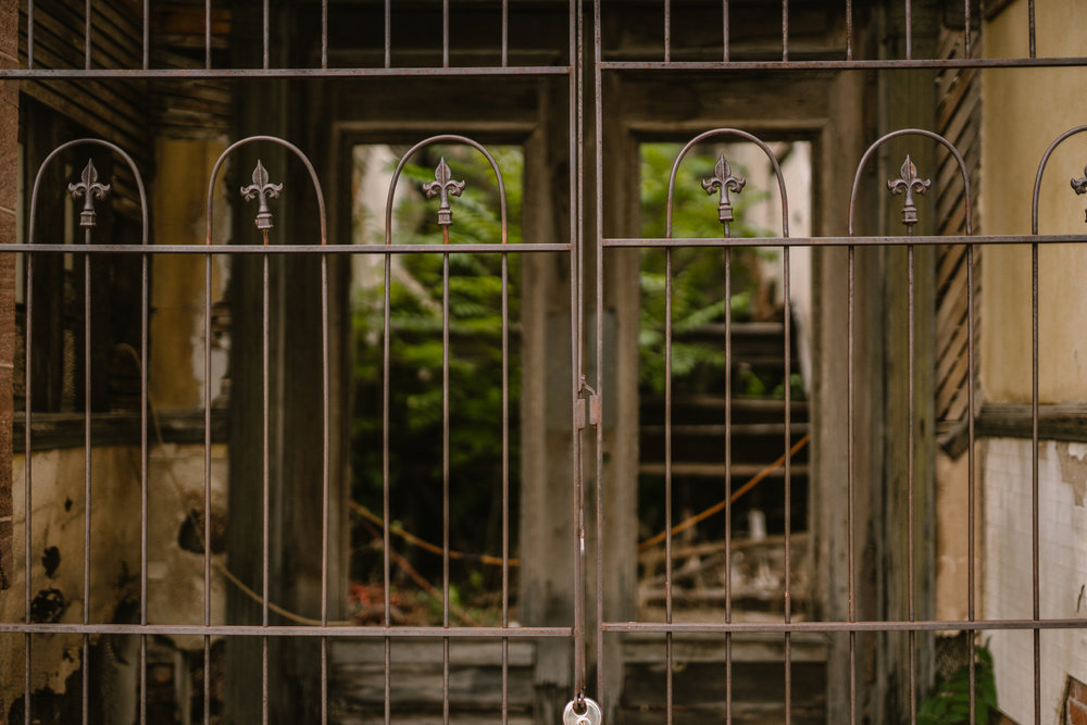 san diego wedding   photographer | view of metal gate