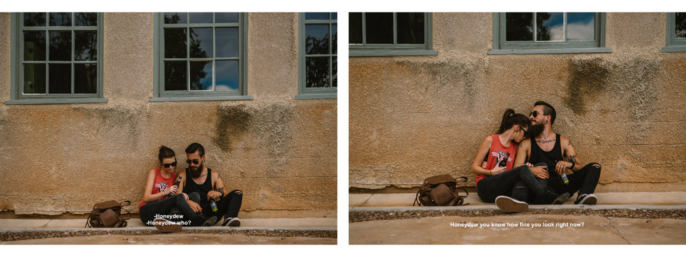 san diego wedding   photographer | collage of couple sitting on sidewalk