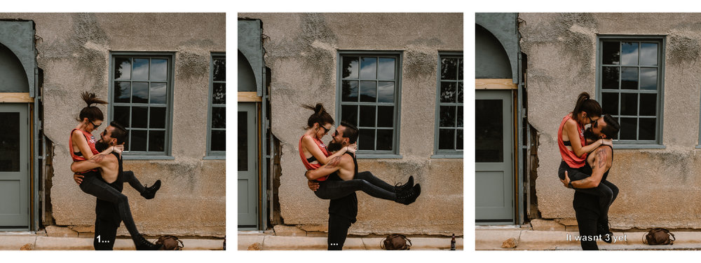 san diego wedding   photographer | collage of woman being carried by man on front