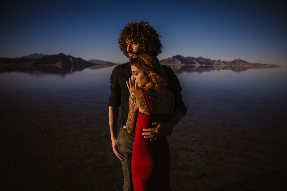 ANDRES + CASEY styled session, Salt flats, Utah