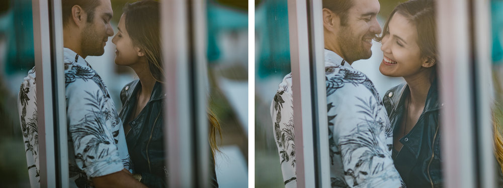 san   diego wedding photographer | collage of woman in leather jacket with man in   white floral shirt