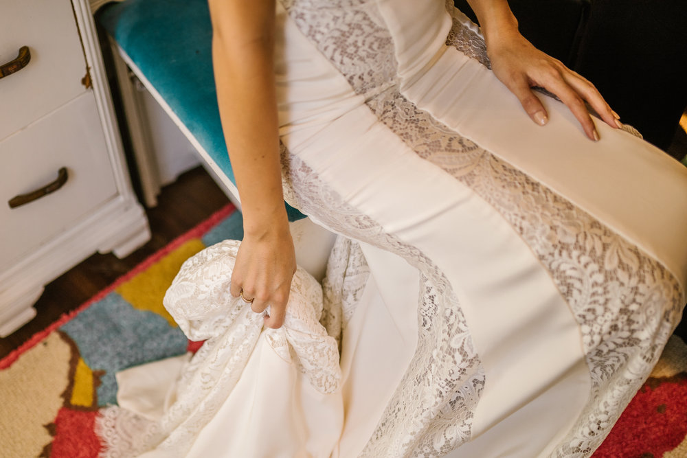 san diego wedding   photographer | woman wearing dress sitting on blue stool