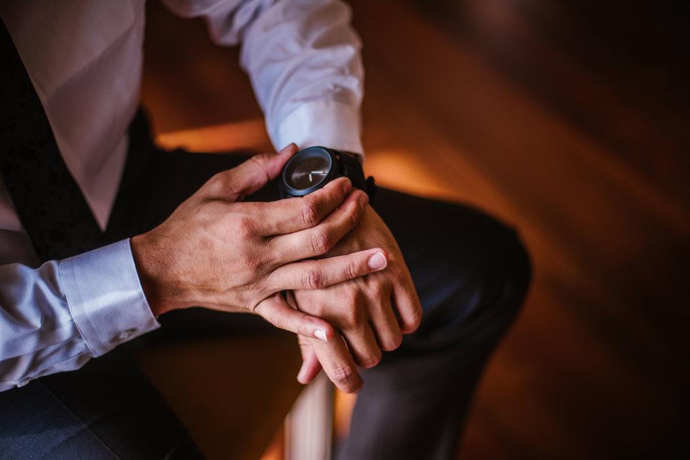 san diego wedding   photographer | closeup of groom's watch