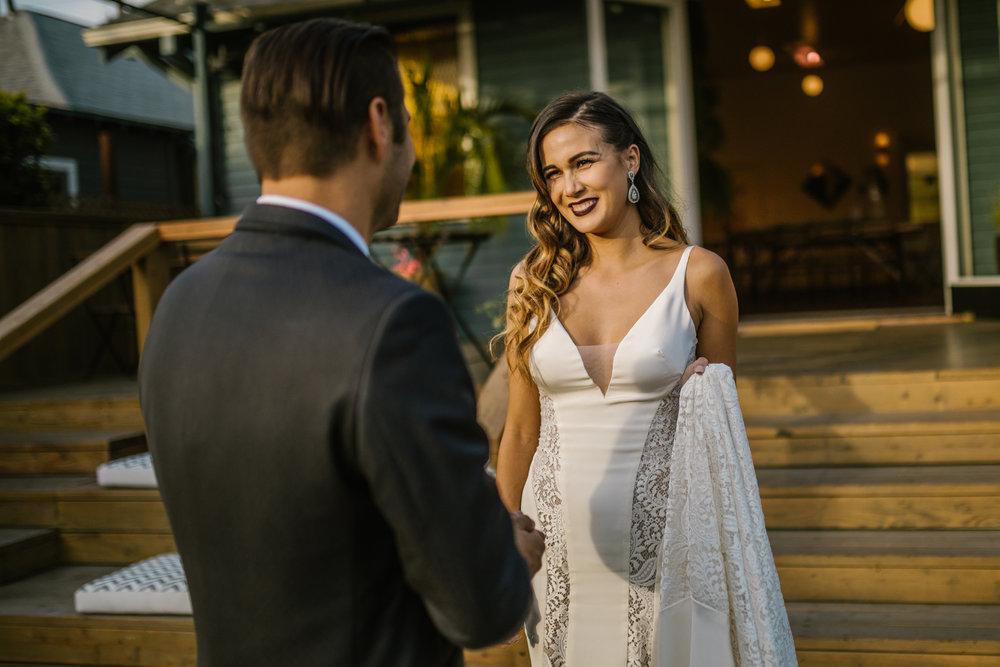 san diego wedding   photographer | bride meeting groom at foot of steps