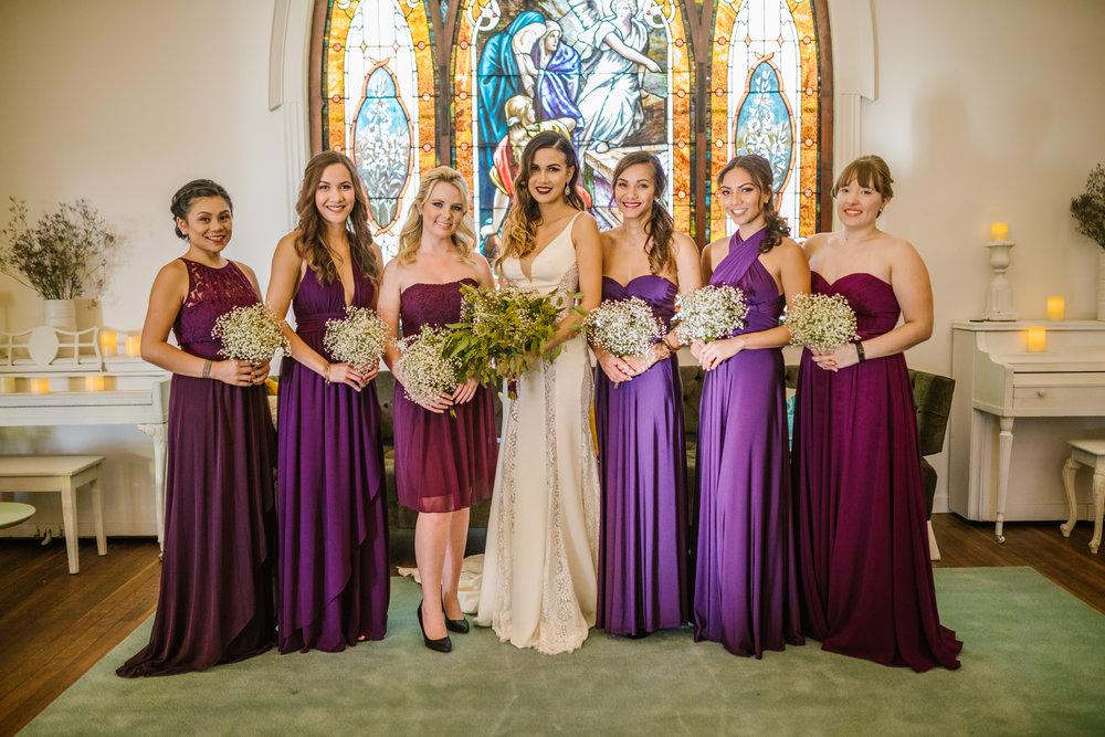 san diego wedding   photographer | bridesmaids with bride