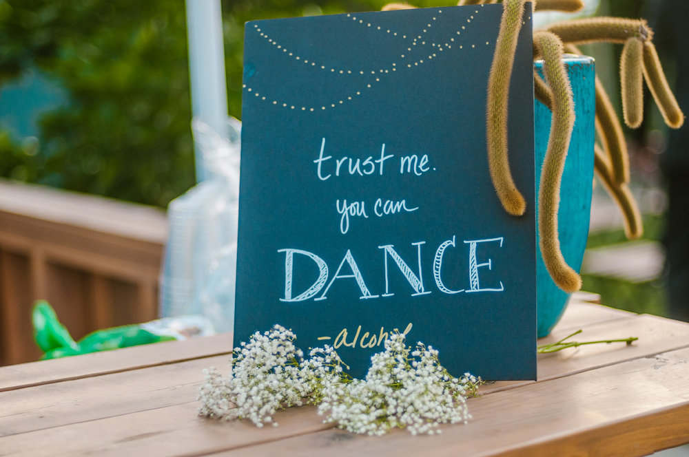 san diego wedding   photographer | sign about dancing