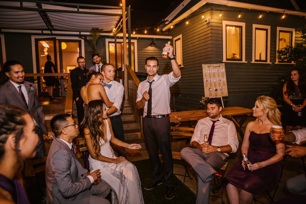 san diego wedding   photographer | group of people outdoors drinking beer