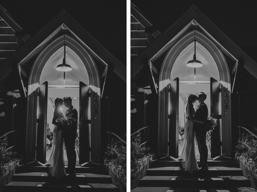 san diego wedding   photographer | monotone collage of man and woman in doorway