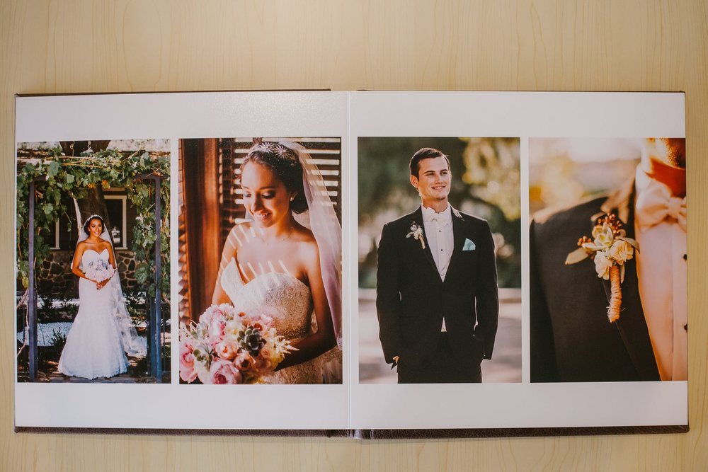 san diego wedding   photographer   picture of photo album