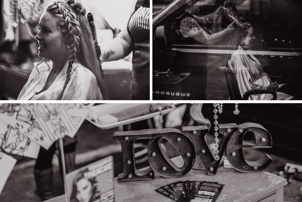 san diego wedding   photographer | monotone collage of woman with braids