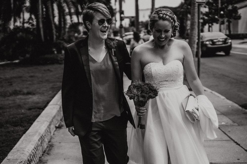 san diego wedding   photographer | women walking down the sidewalk