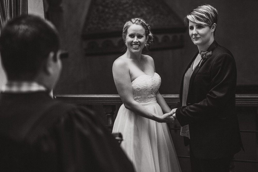 san diego wedding   photographer | monotone shot of women holding hands posing