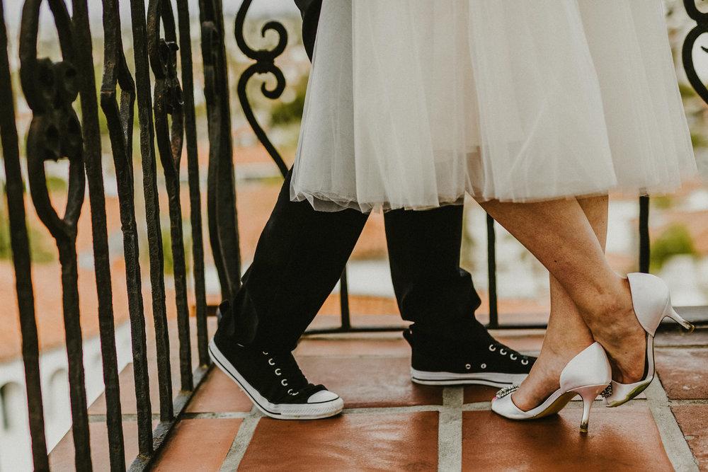 san diego wedding   photographer | feet of women near railing