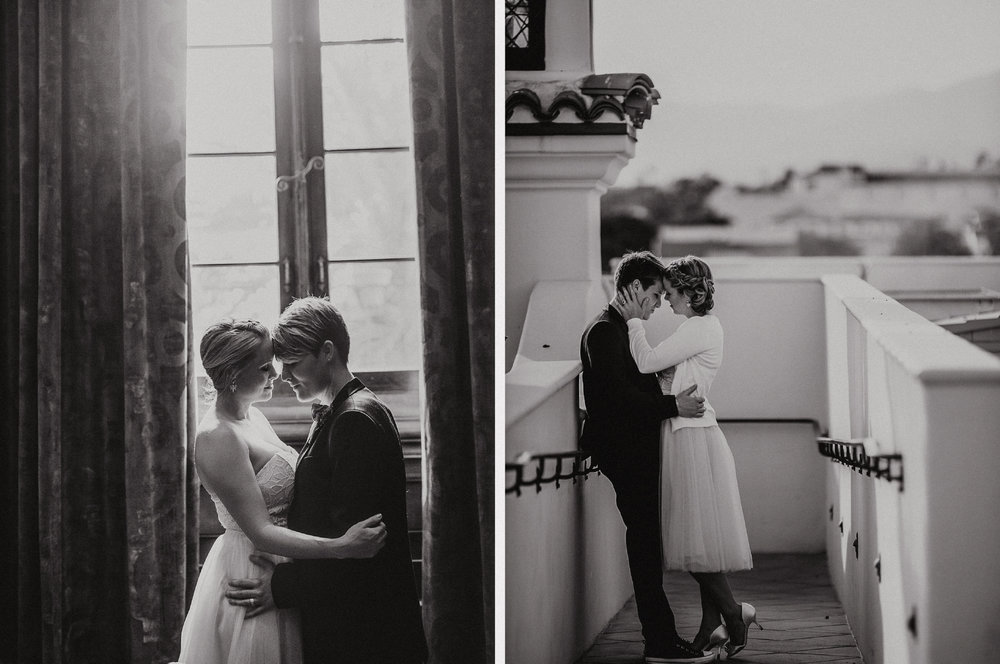 san diego wedding   photographer | monotone collage of women by window and steps