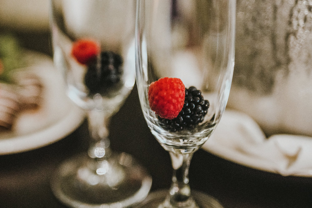 san diego wedding   photographer | closeup of glasses with raspberries in them