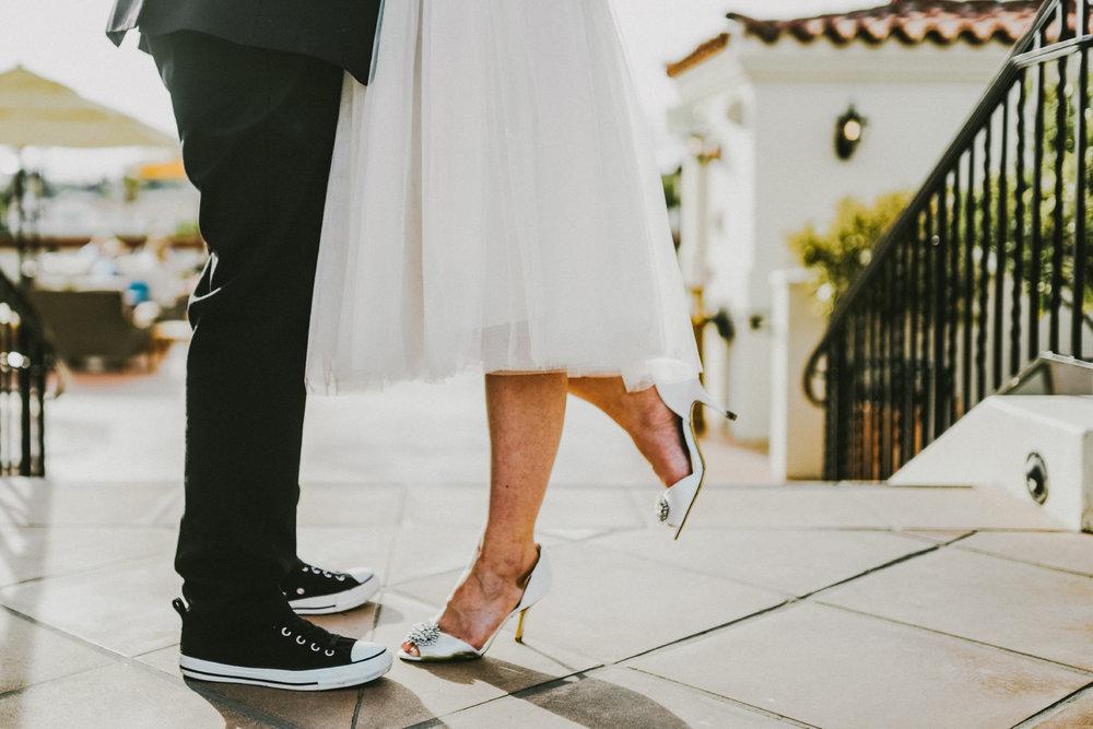 san diego wedding   photographer | feet of women on top of staircase