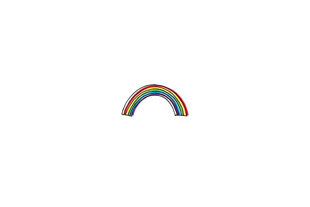 san diego wedding   photographer | drawing of a rainbow