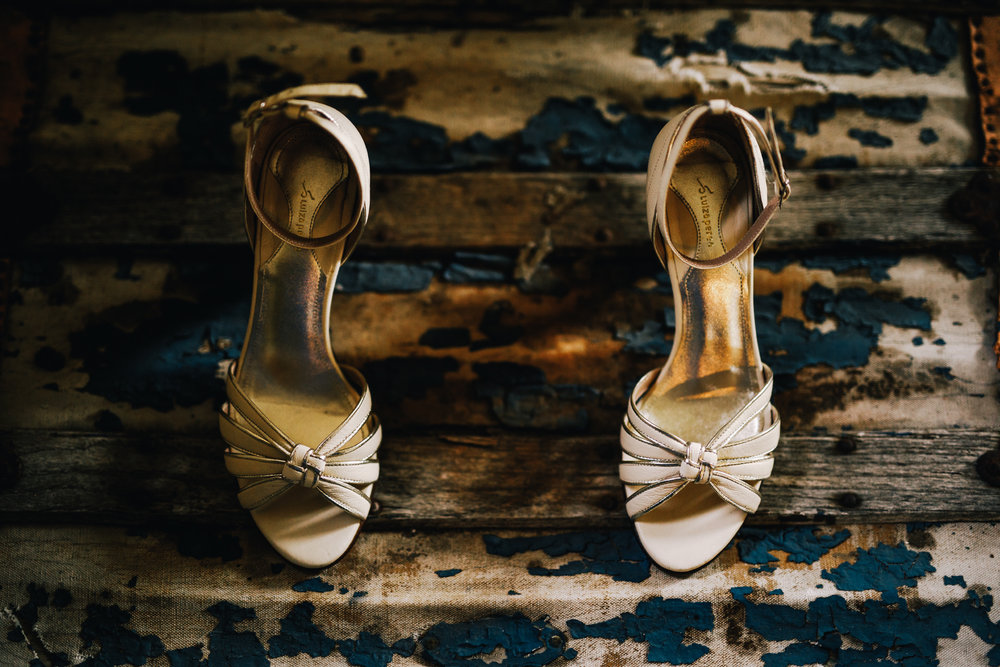 san diego wedding   photographer | white heels on an old chest