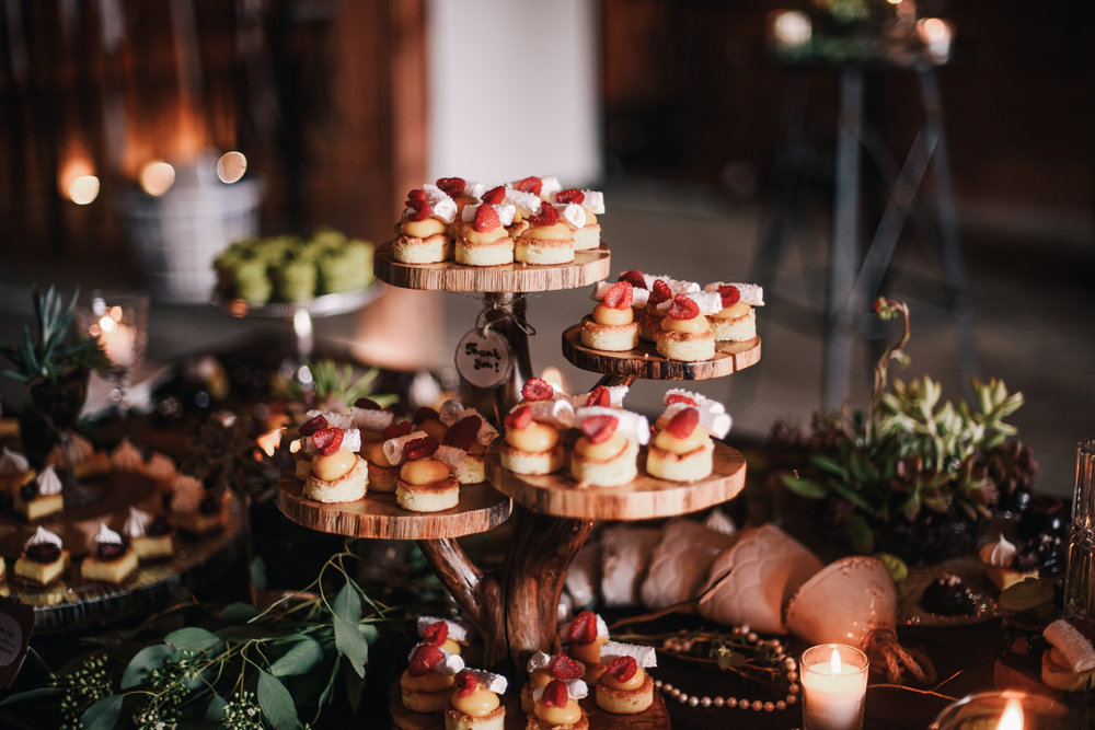 san diego wedding   photographer | platters of strawberry shortcakes on a table