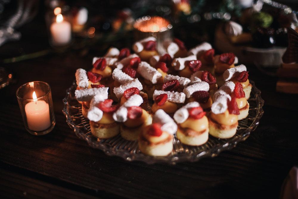 san diego wedding   photographer | strawberry shortcakes on a glass platter