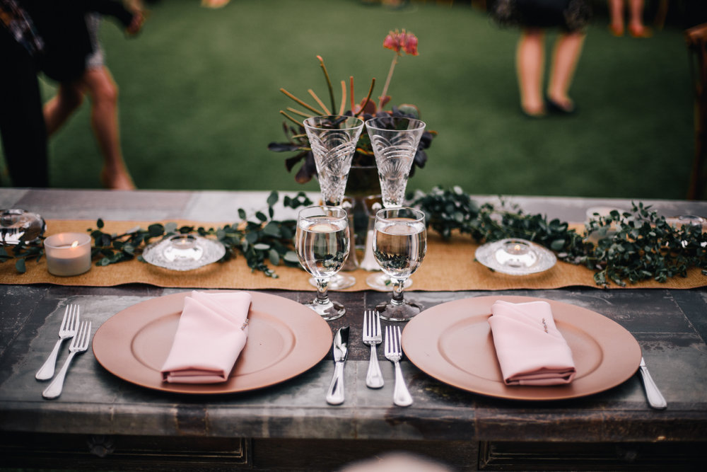 san diego wedding   photographer | picture of table set-up with tableware
