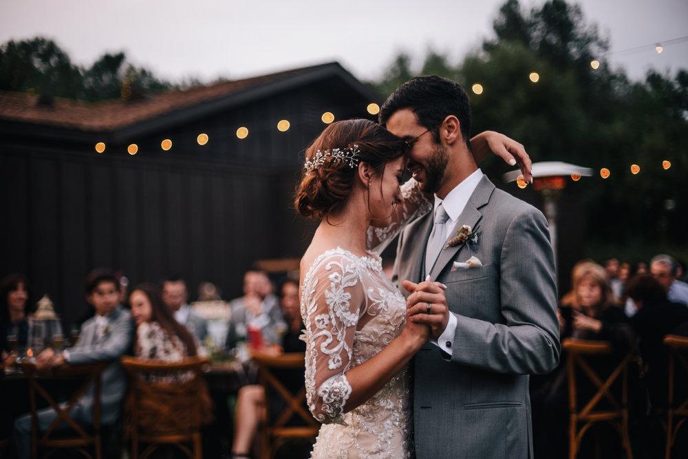 san diego wedding   photographer | bride and groom dancing with bride's arm around groom's neck