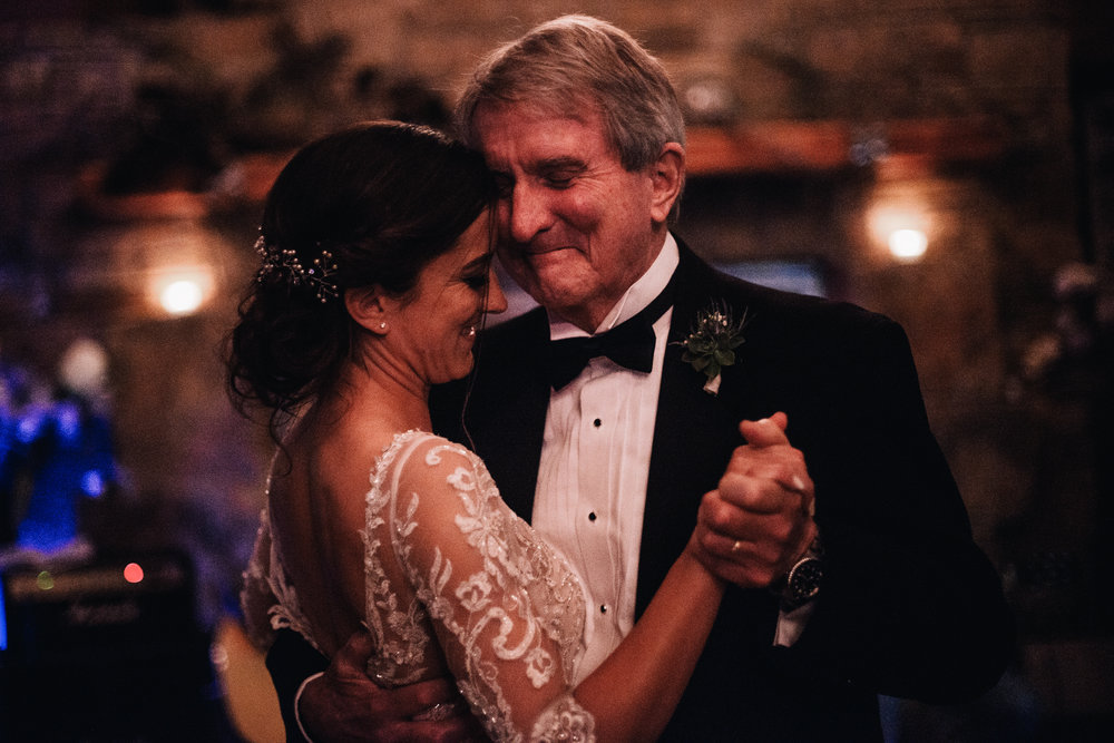 san diego wedding   photographer | bride dancing with her father wearing a black tux