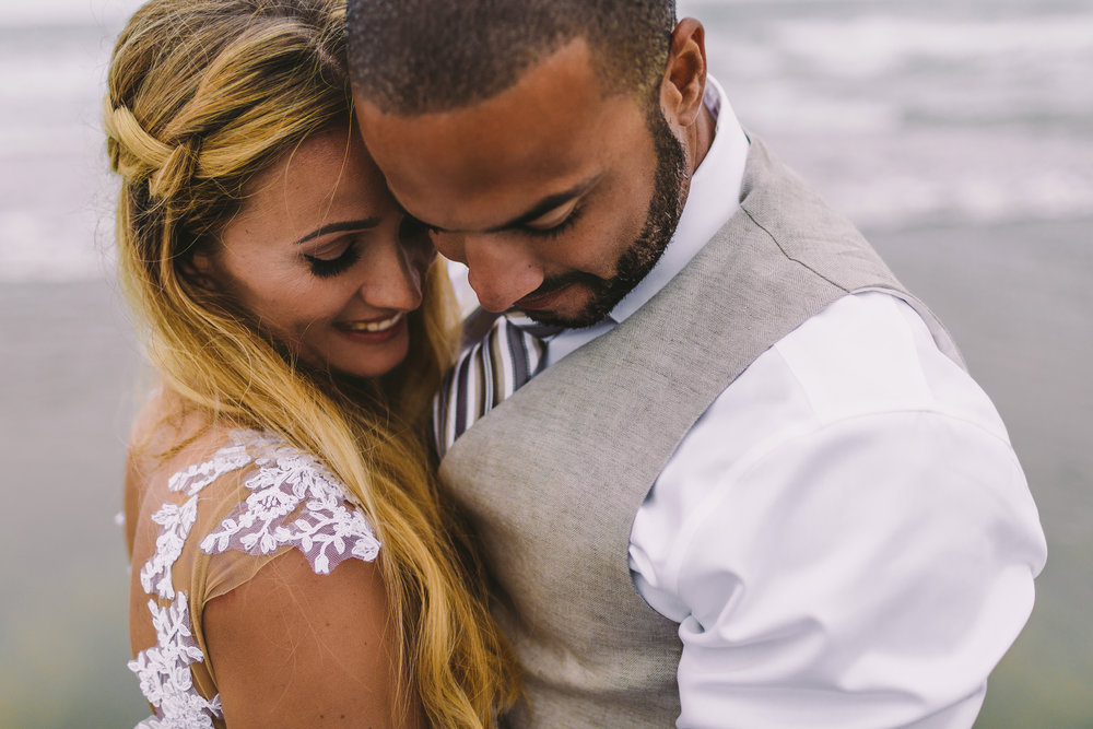 san diego wedding   photographer | married couple standing close to each other while they both   look down