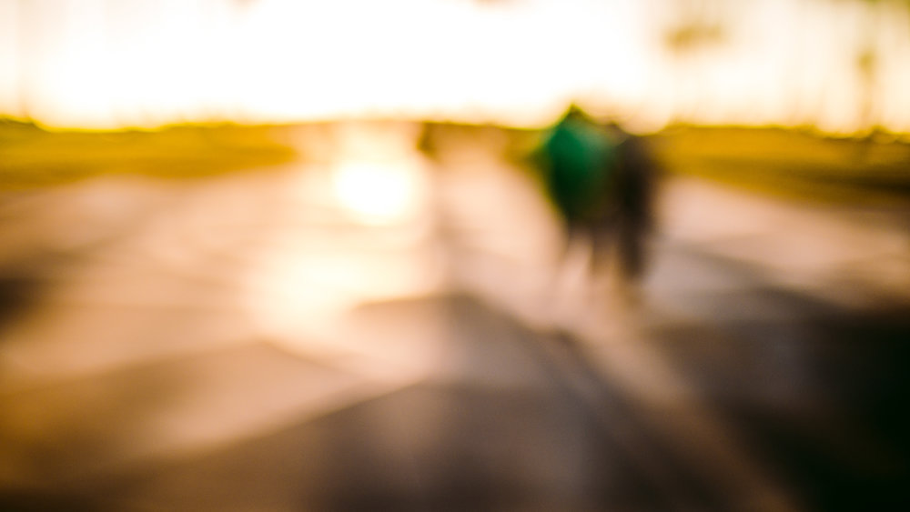 san diego wedding   photographer | out of focus shot of road in sunset