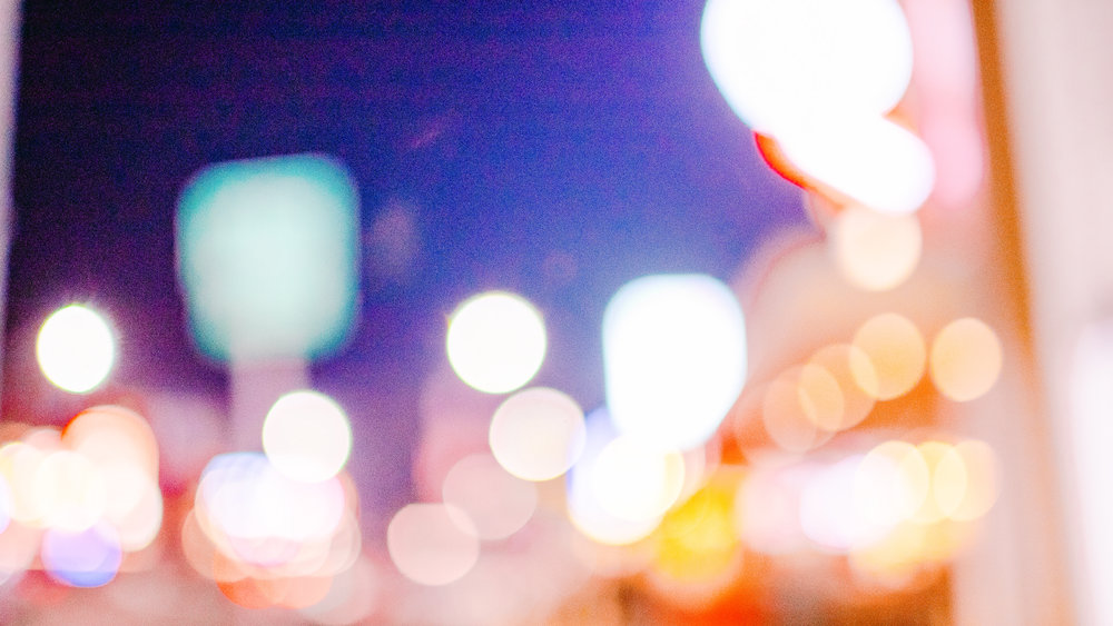 san diego wedding   photographer | blurred picture of city lights in busy street