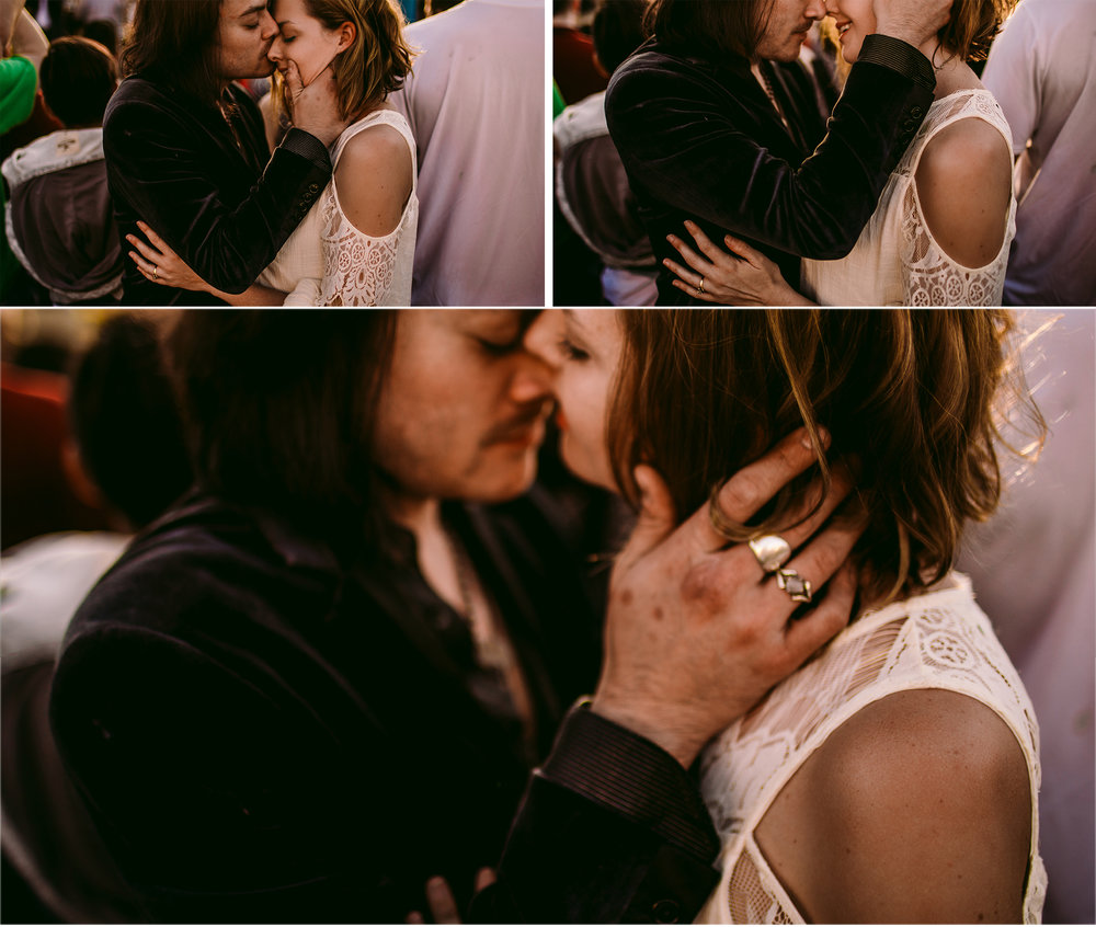 san diego wedding   photographer | collage of man in black coat kissing woman's nose and them   looking at each other