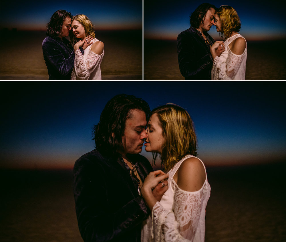 san diego wedding   photographer | collage of couple holding each other with view of desert   behind them