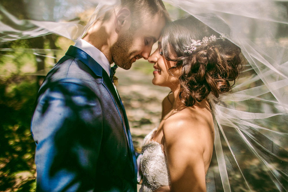 san diego wedding   photographer | couple under veil touching noses with eyes closed
