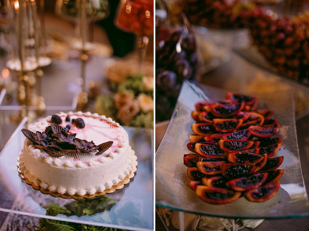 san diego wedding   photographer | collage of desserts and passionfruit platter