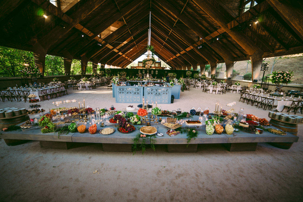 san diego wedding   photographer | spread of abundant food arranged on table