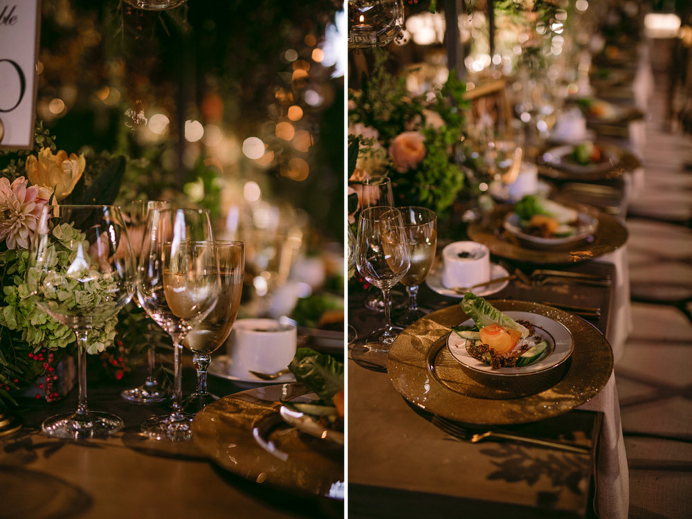 san diego wedding   photographer | collage of table arrangement