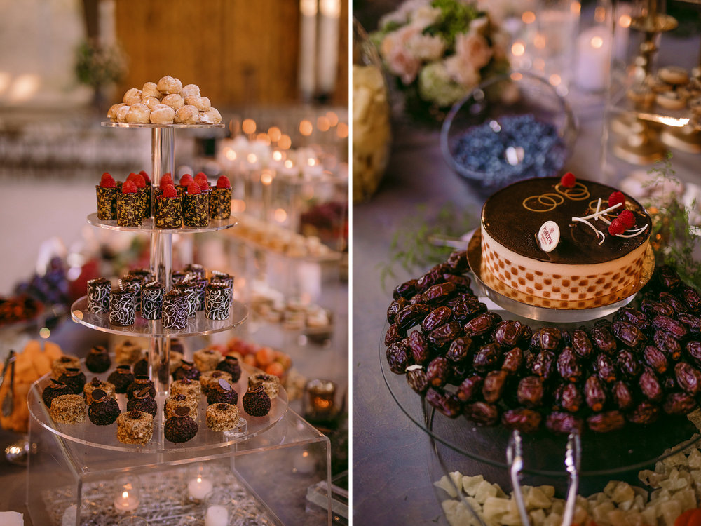 san diego wedding   photographer | collage of assortment of desserts and dried fruits
