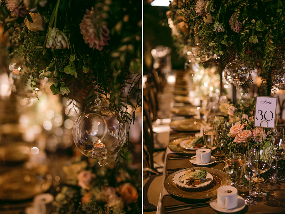 san diego wedding   photographer | collage of table set-up in sunset