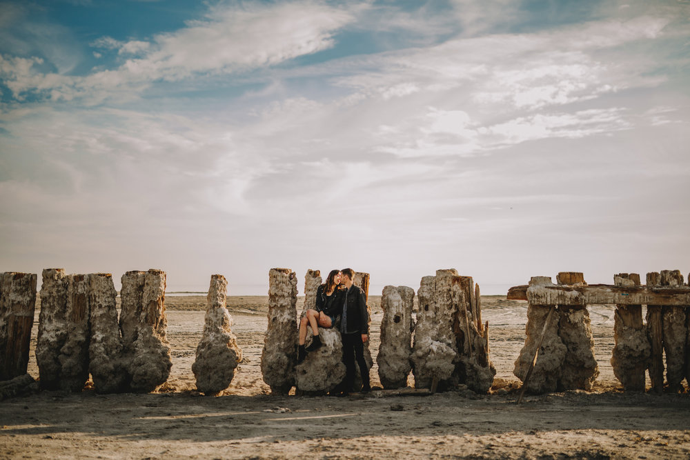 san diego wedding   photographer | man standing beside woman while they kiss