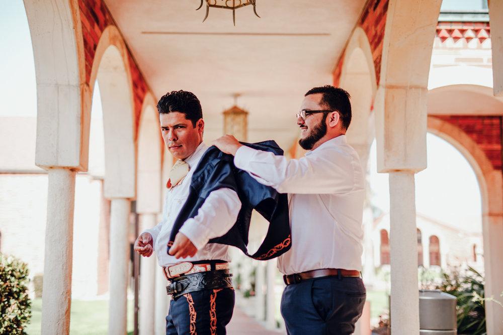 San Diego Wedding Photographer | groom getting ready for wedding