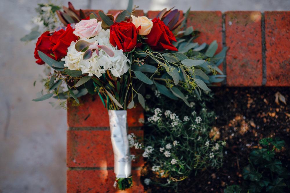 San Diego Wedding Photographer | wedding rose bouquet