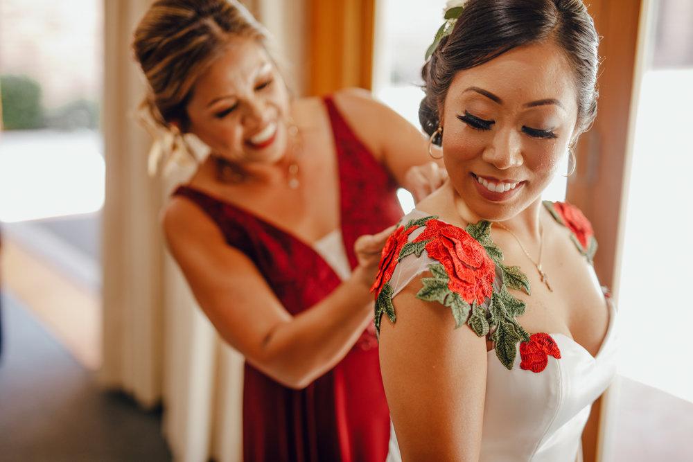 San Diego Wedding Photographer | mom and bride moment