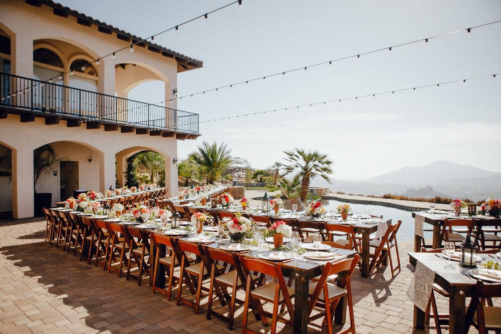 San Diego Wedding Photographer | reception at a wedding in Montana Cielo